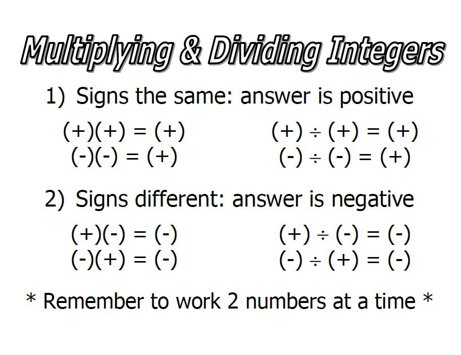 Integers and Order of Operations SusanLeeSensei – Operations with Integers Worksheet